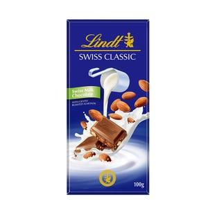 瑞士莲瑞士经典排装扁桃仁牛奶巧克力