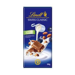 瑞士莲瑞士经典排装提子果仁牛奶巧克力